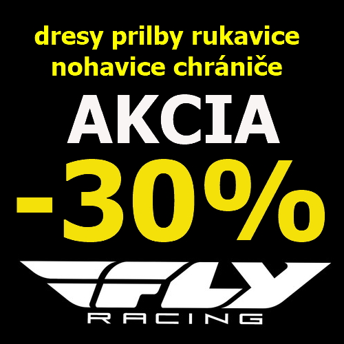 -30% výpredaj Fly Racing